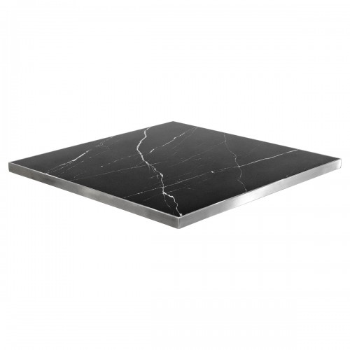 Black marble square table top