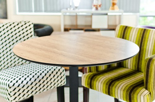 Melamine Round Table Top as seen in our Showroom