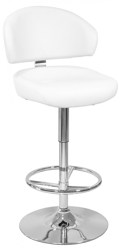 Casino Bar Stool in White