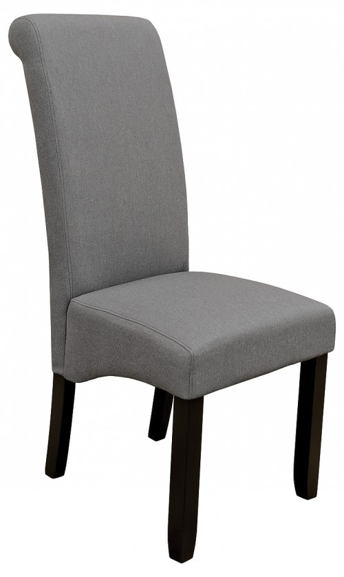 Scroll Back Dining Chair in Grey