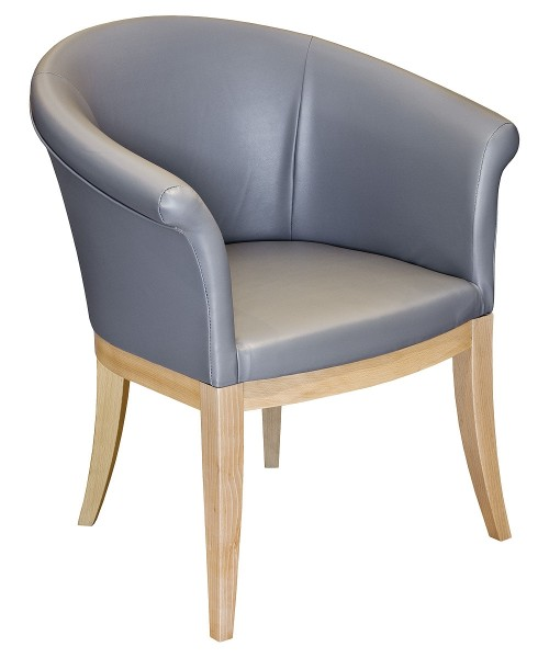 Irene Tub Chair in Grey PU