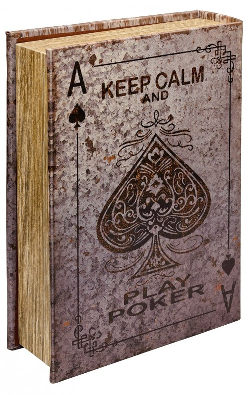 Mirrored Poker Storage Book Box - Back Cover