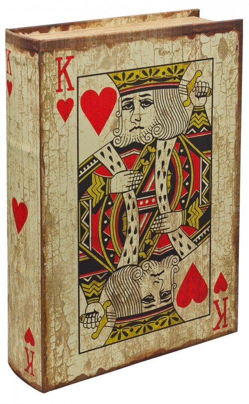 Playing Card King Of Hearts Storage Book Box Book Box