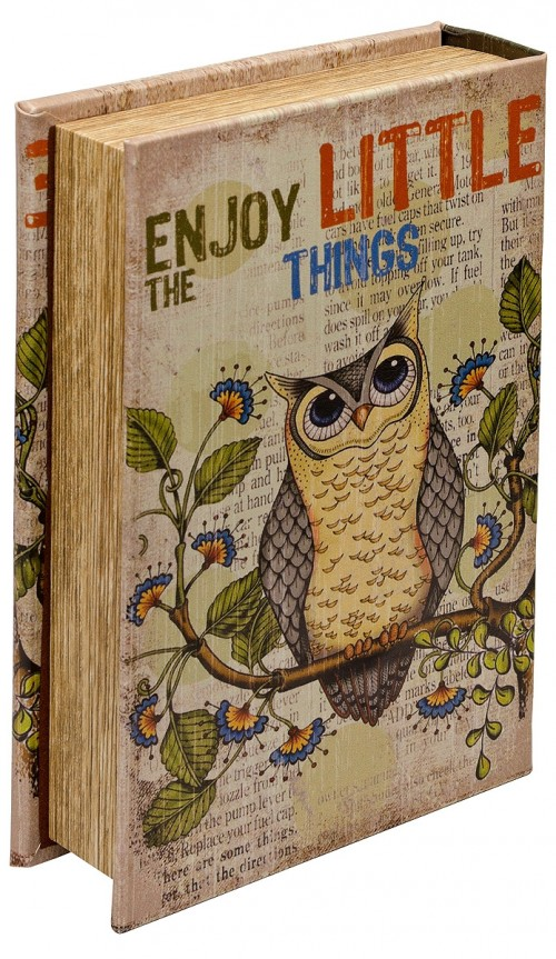 Mirrored Enjoy The Little Things Storage Book Box - Back Cover