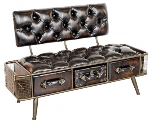 Steam Punk Style Bench Seat