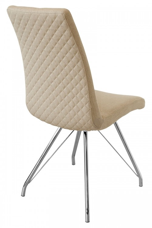 Madelina Fabric Dining Chair - Taupe - Back