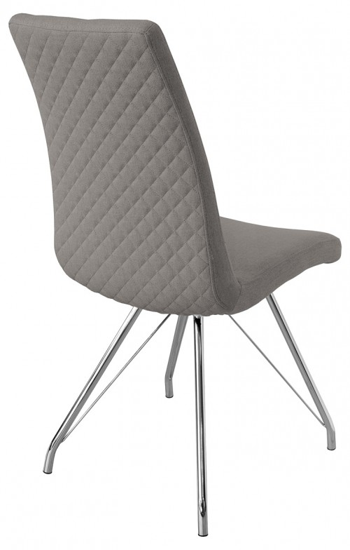Madelina Fabric Dining Chair - Light Grey - Back