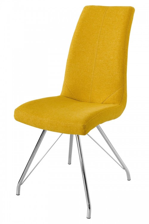 Madelina Fabric Dining Chair - Yellow