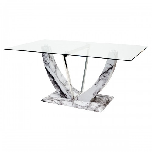 Jericho Marble Style Rectangular Dining Table