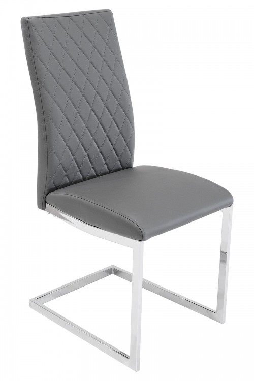 Quilt Back Dining Chair - Grey