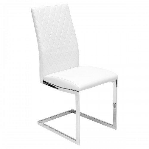 Quilt Back White Dining Chair - Front