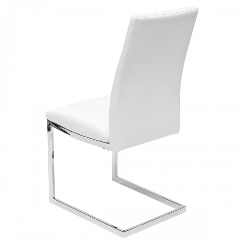Quilt Back White Dining Chair - Back