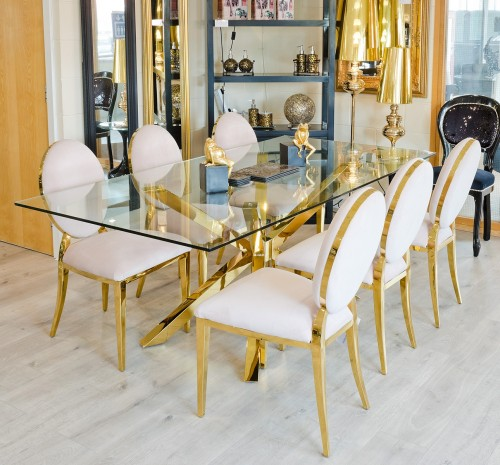Midus Rectangular Dining Table in our showroom