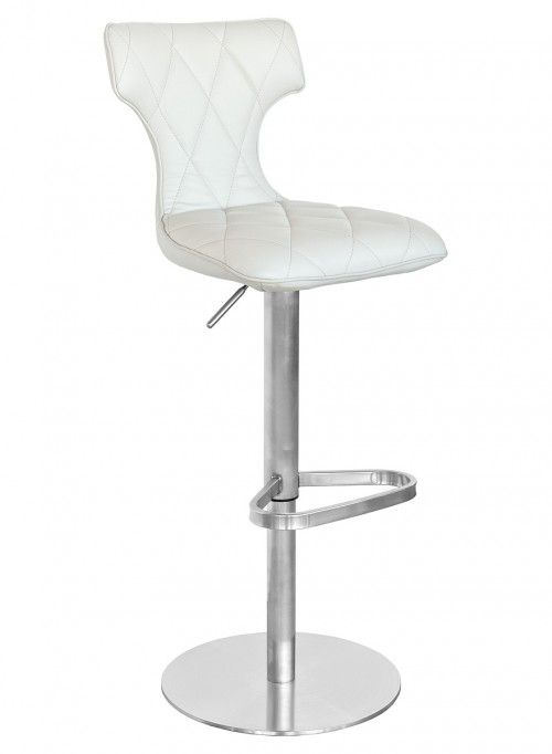 Ava Bar Stool in Cream - Front