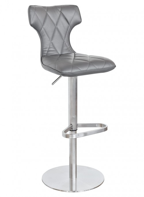 Ava Bar Stool in Grey - Front