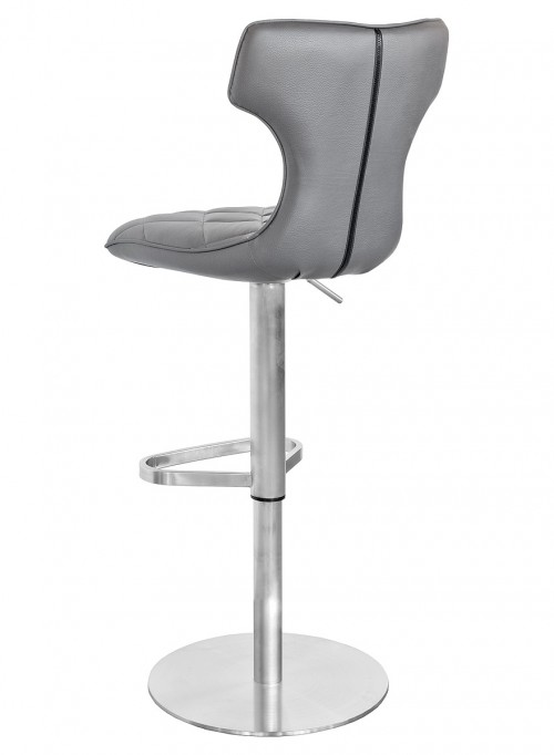 Ava Bar Stool in Grey - Back