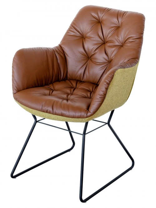 Leyton Two-tone Chair in Brown