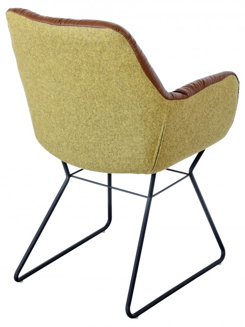 Leyton Two-tone Chair in Brown - Back