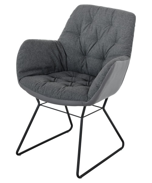 Leyton Two-tone Chair in Grey