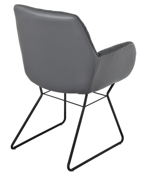 Leyton Two-tone Chair in Grey - Back