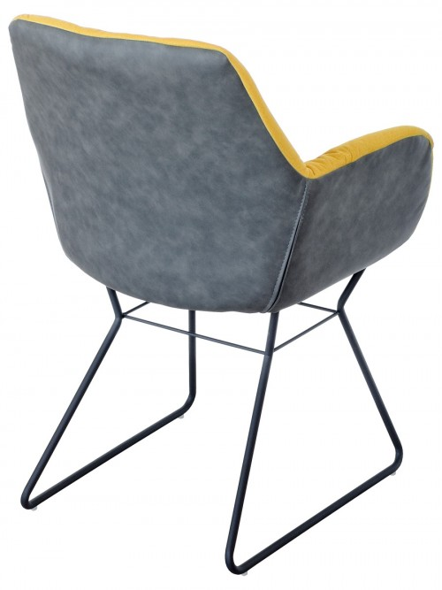 Leyton Two-tone Chair in Yellow - Back