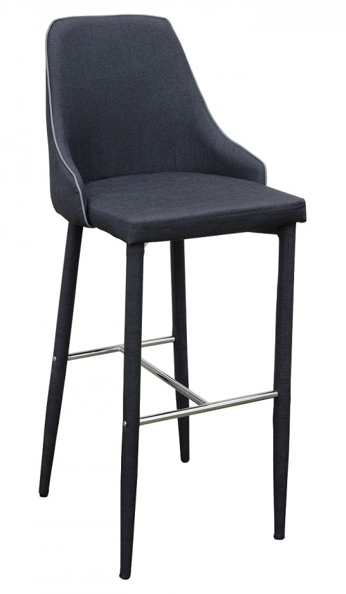Duncan Bar Stool in Charcoal Fabric