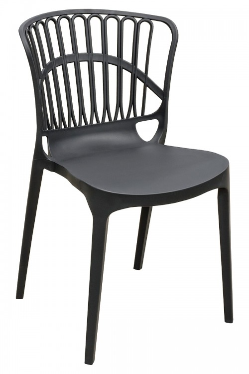 Eden Garden Stacking Chair in Black