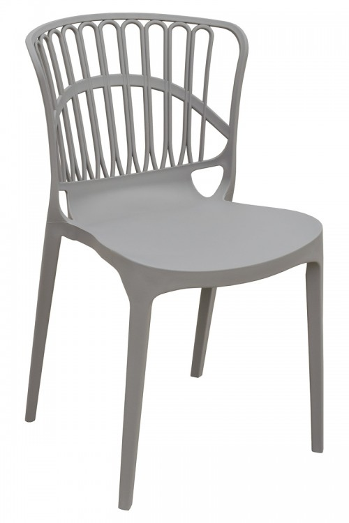Eden Garden Stacking Chair in Grey