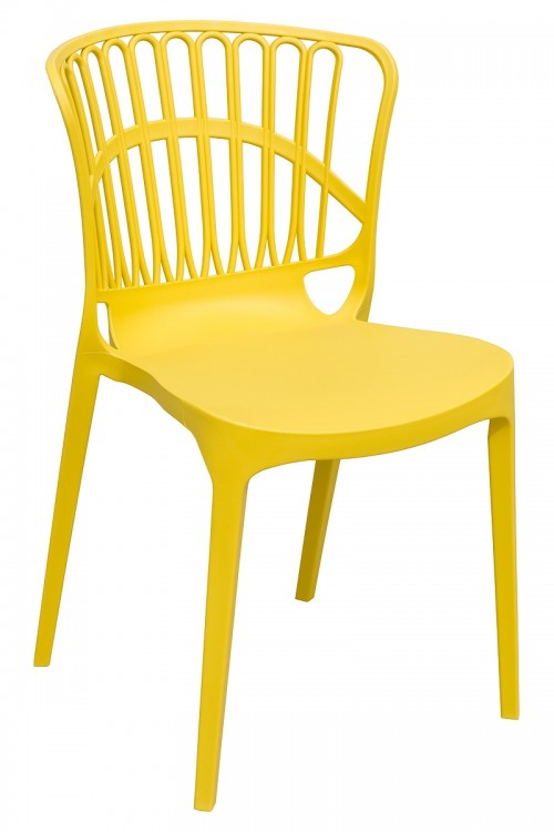 Eden Garden Stacking Chair in Yellow