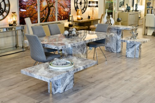 Newcastle Grey Marble Table Range