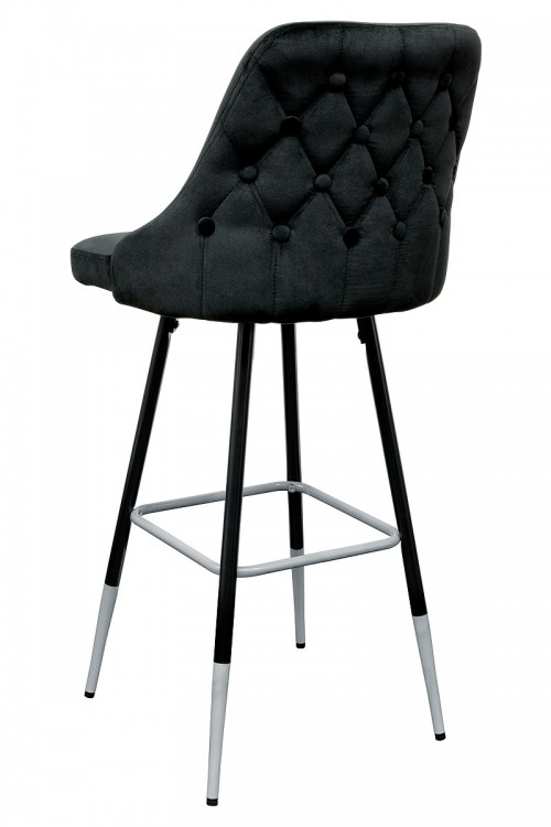 Fiona Black Fabric Bar Stool - Back View