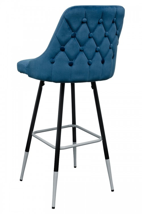 Fiona Blue Fabric Bar Stool - Back View