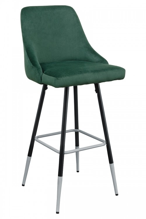 Fiona Green Fabric Bar Stool - Front View
