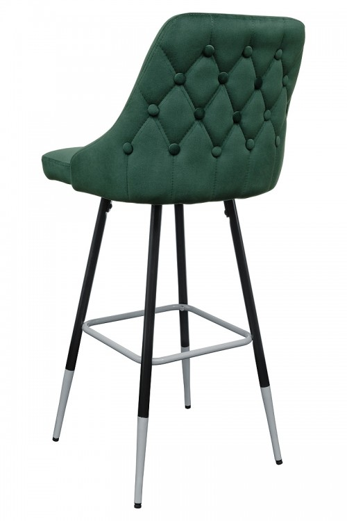 Fiona Green Fabric Bar Stool - Back View