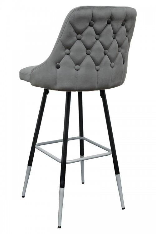 Fiona Grey Fabric Bar Stool - Back View