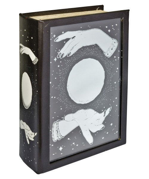 Mirrored Crystal Ball Storage Book Box - Front