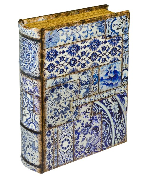 Chinese Tiles Storage Book Box - Front