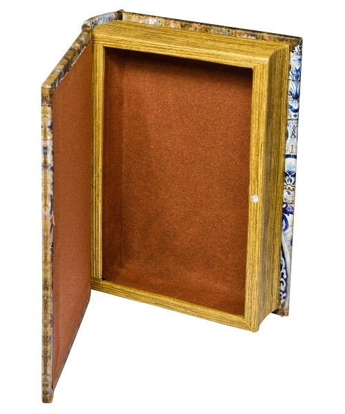 Chinese Tiles Storage Book Box - Open