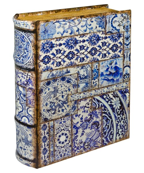 Chinese Tiles Large Storage Book Box - Front