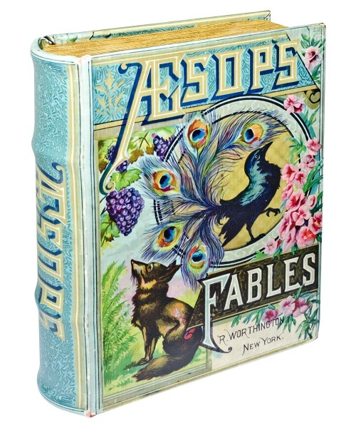Aesops Fables Storage Book Box - Front