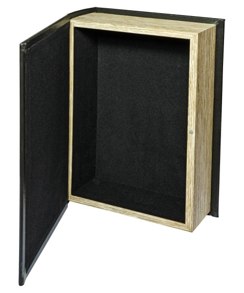 Gold Feather Natural Storage Book Box - Open
