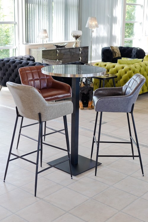 Felicity Leather Look Bar Stool in our Showroom