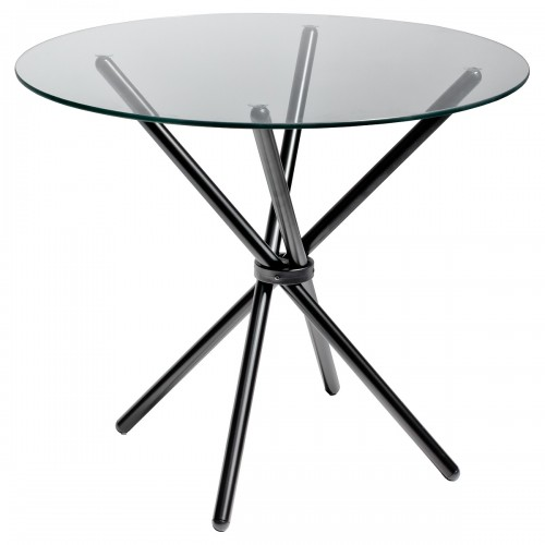 Criss - Cross Black Dining Table