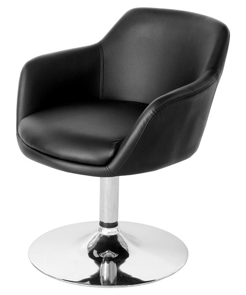 Bucketeer Swivel Dining Chair - Black