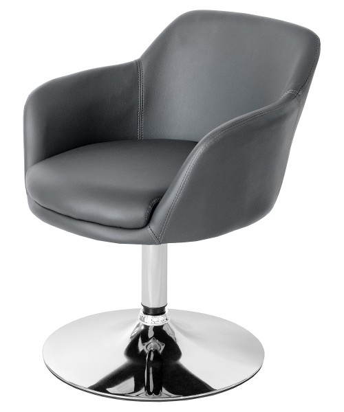 Bucketeer Swivel Dining Chair - Grey