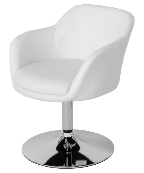 Bucketeer Swivel Dining Chair - White