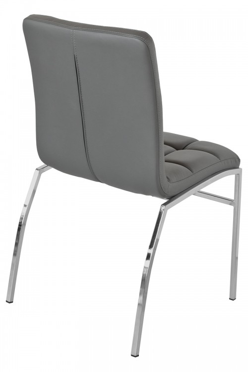 Coco Dining Chair - Grey - Back