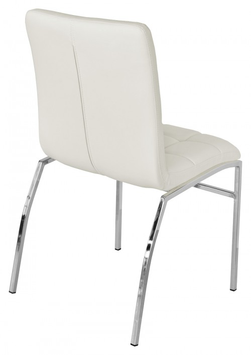 Coco Dining Chair - White - Back