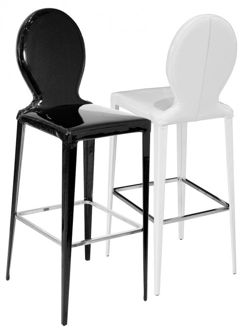 Tequila Bar Stool in Black or White PVC