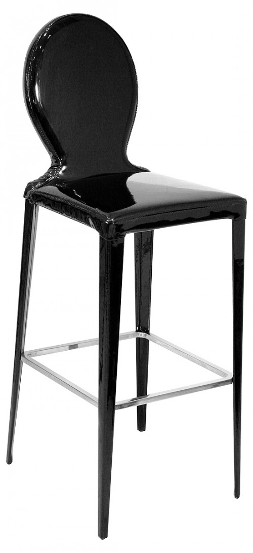 Tequila Bar Stool in Black PVC